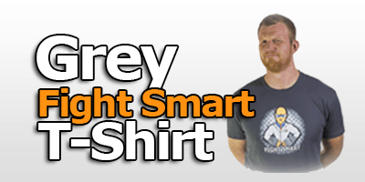 grey fight smart t-shirt